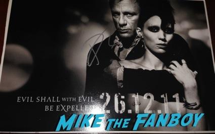 Daniel Craig signed autograph poster girl dragon tattoo1