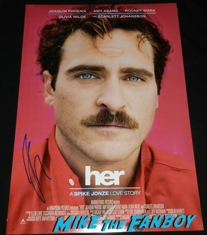 Joaquin Phoenix signed autograph her mini poster rare promo Her Movie Premiere Joaquin Phoenix signing autographs hot21