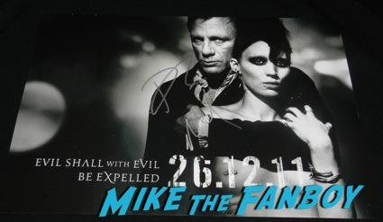 rooney mara daniel craig signed autograph the girl with the dragon tattoo mini poster rare