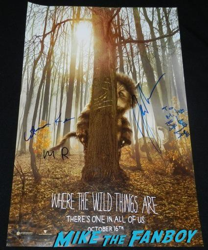 where the wild things are promo signed autograph mini poster rare