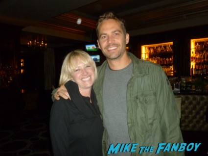 Paul Walker fan photo signing autographs for fans rare fast and furious star