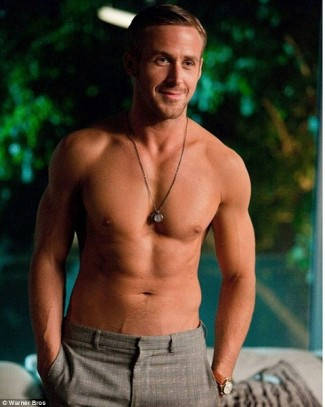 Ryan Gosling shirtless naked muscle rare arms pecs rare nude naked