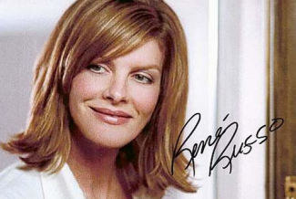 rene russo update signed autograph photo rare promo