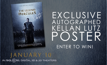 legend of hercules autograph kellan lutz movie poster contest giveaway