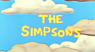 The Simpsons logo main title credits