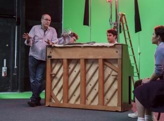 Six by sondheim 05 James Lapine directs Darren Criss and America Ferrera