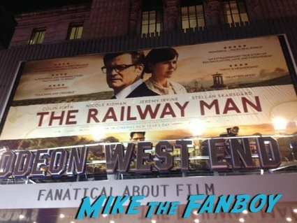 The Railway Man UK Movie Premiere Colin Firth signing autographs12