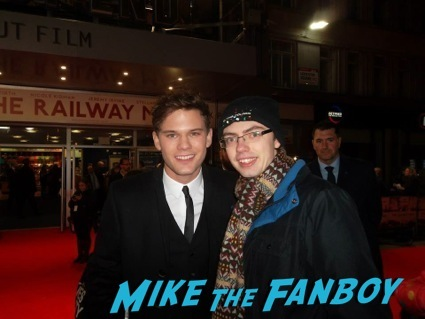 jeremy irvine signing autographs The Railway Man UK Movie Premiere Colin Firth signing autographs4