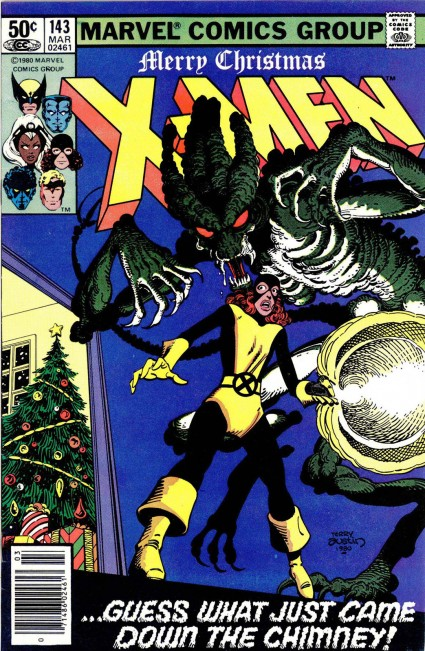 ultimate x-men kitty pryde days of future past storyline 1980s Marvel christmas Card 711 1980s rare the avengers 1980s christmas comic book cover