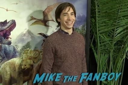 justin long at the Walking With Dinosaurs new york movie premiere 5