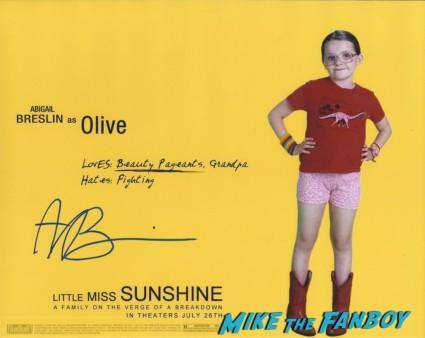 abigail breslin signed autograph little miss sunshine rare