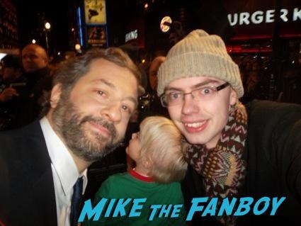 judd apatow signing autographs anchorman 2 uk movie premiere will ferrell signing autographs4