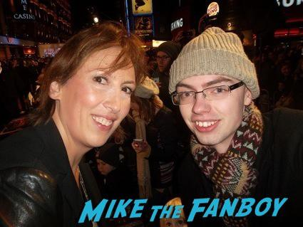 Miranda Hart signing autographs anchorman 2 uk movie premiere will ferrell signing autographs4