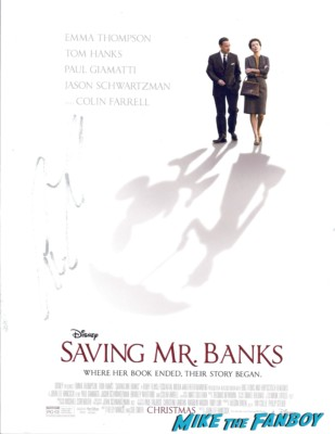 colin farrell signed autograph saving mr. banks poster rare
