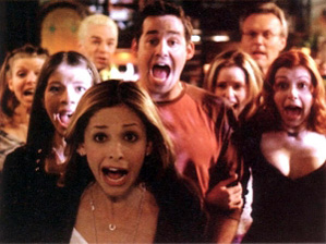 buffy the vampire slayer cast yelling sarah michelle gellar