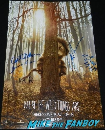 where the wild things are signed movie poster christopher guest signing autographs spinal tap rare catherin o'hara11