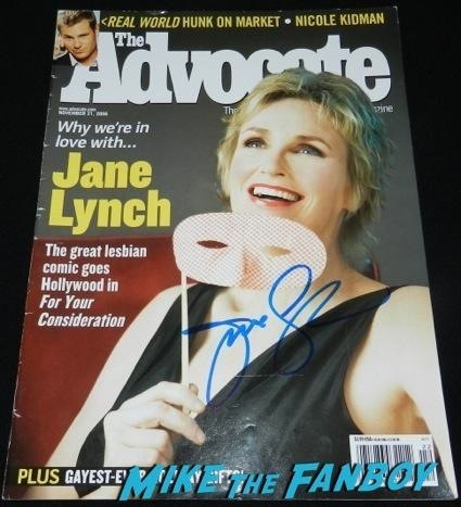 jane lynch the advocate cover signed autograph rare promo