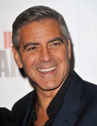 george clooney sexy head shot