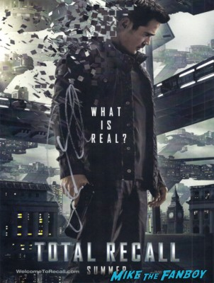 colin farrell signed autograph total recall poster rare