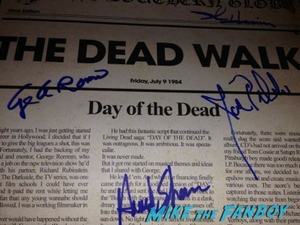 day of the dead cast autograph signing george romero1