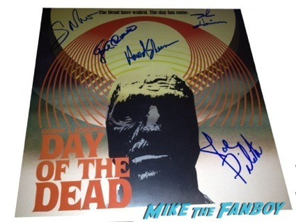day of the dead cast autograph signing george romero2