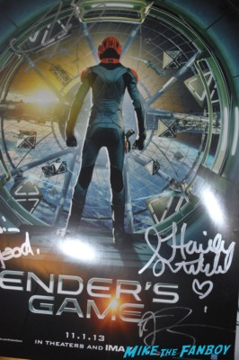 enders game abigail breslin signed autograph poster rare