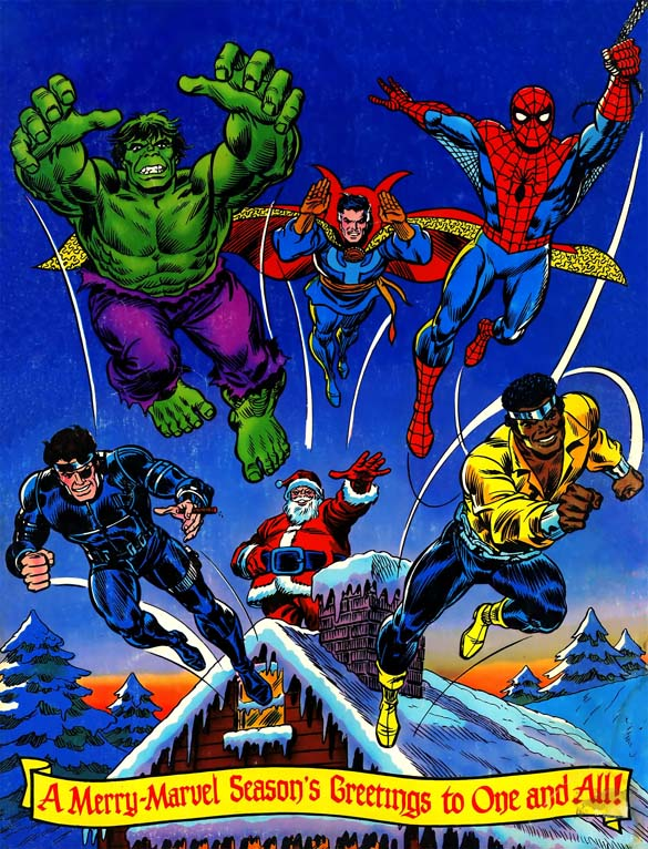 the avengers 1980s christmas comic book cover