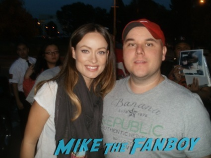 olivia wilde signing autographs hot sexy tron legacy star