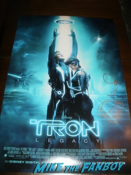 olivia wilde signed tron legacy min poster rare promo olivia wilde signing autographs hot sexy tron legacy star