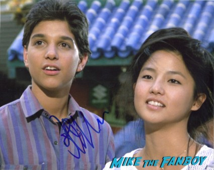 Ralph Macchio signing autographs for fans rare hot now