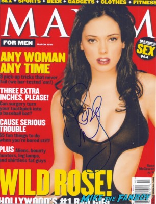 rose McGowan signed autograph maxim magazine signing autographs for fans rare
