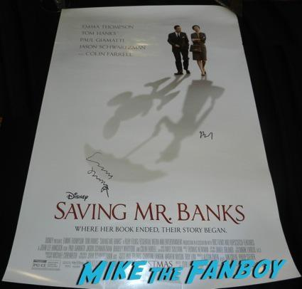 saving Mr. Banks emma thompson bj novak signed movie poster q and a colin farrell emma thompson signing autographs 17