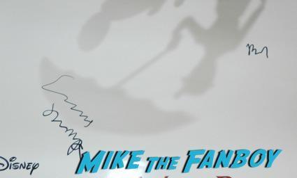 saving Mr. Banks emma thompson bj novak signed movie poster q and a colin farrell emma thompson signing autographs 17