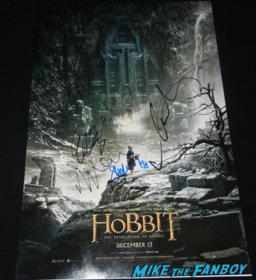 The Hobbit: The Desolation of Smaug signed autograph mini poster rare martin freeman
