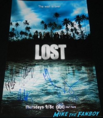 lost cast signed autograph mini poster rare