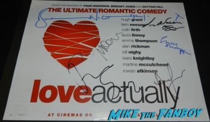 love actually signed autograph uk quad mini poster martin freeman emma thompson liam neeson