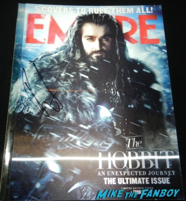 richard armitage signed autograph empire magazine lenticular cover
