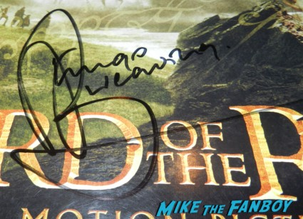lord of the rings trilogy signed autograph poster hugo weaving orlando bloom