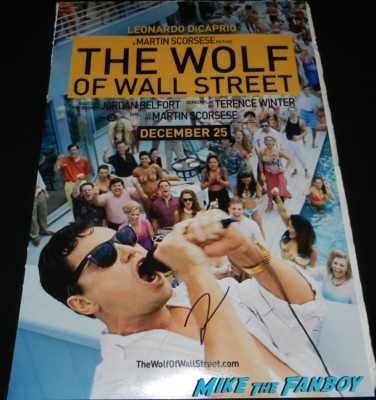 the wolf of wall street q and a Leonardo DiCaprio signing autographs hot rare