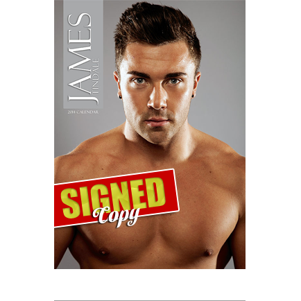 James Tindale signed calendar hot model sexy