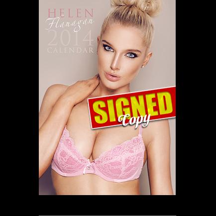 Helen Flanagan signed calendar hot model sexy