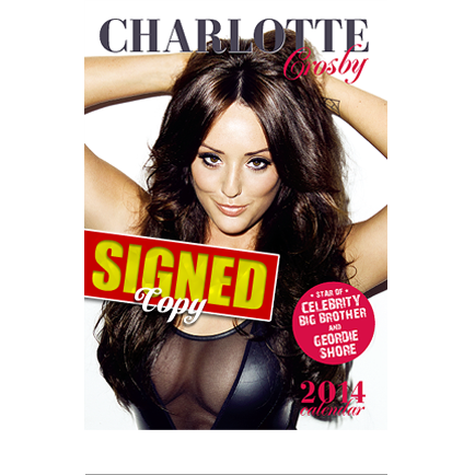 Charlotte Crosby signed calendar hot model sexy