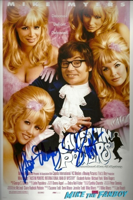 austin powers seth green signed autograph poster q ana a bryan singer6