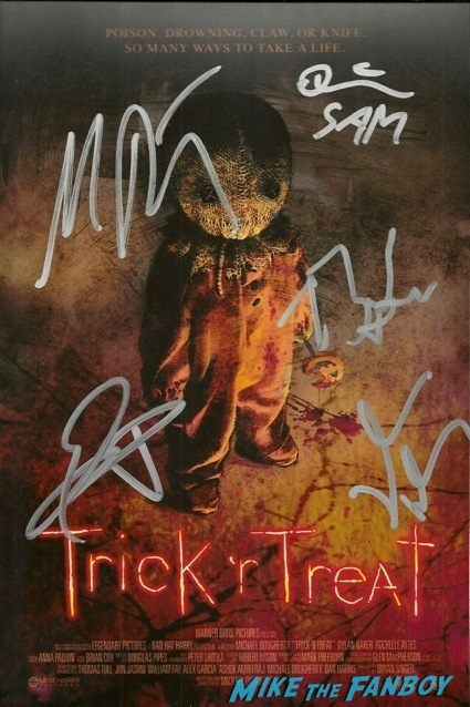 trick r treat signed autograph poster q ana a bryan singer3
