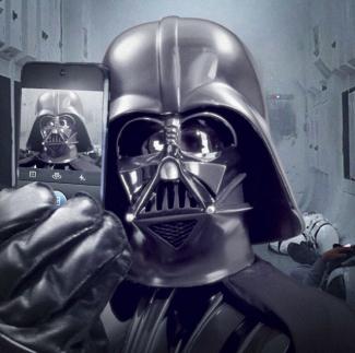 darth vader selfie pic