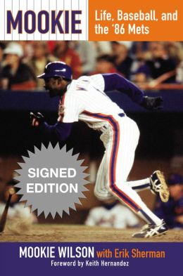 Mookie wilson book cover autograph signed edition