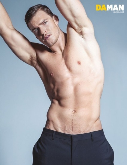 Alan Ritchson Da Man naked shirtless nude photo shoot abs armpit muscle1
