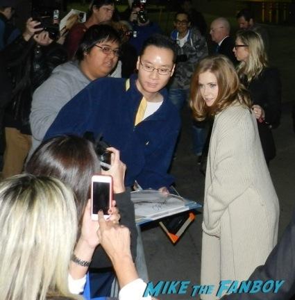Amy Adams jimmy kimmel signing autographs fan photo rare1