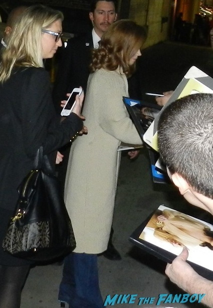 Amy Adams jimmy kimmel signing autographs fan photo rare1