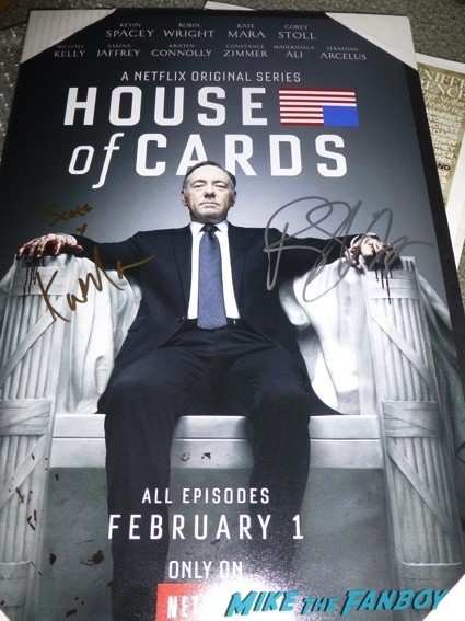 house of cards signed autograph mini poster